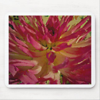 magenta, pinks, and white dahlia mouse pad