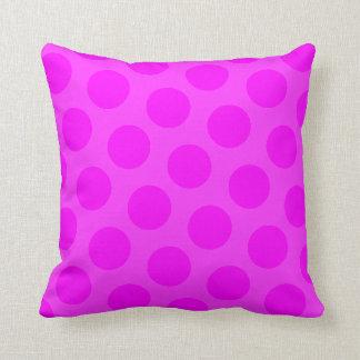 Magenta Polka Dot Cushion
