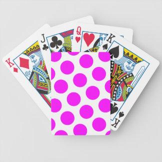Magenta Polka Dots Bicycle Playing Cards