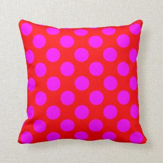 Magenta Polka Dots Cushion