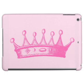 Magenta Princess Crown on Pink Background