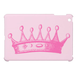 Magenta Princess Crown on Pink Background iPad Mini Case