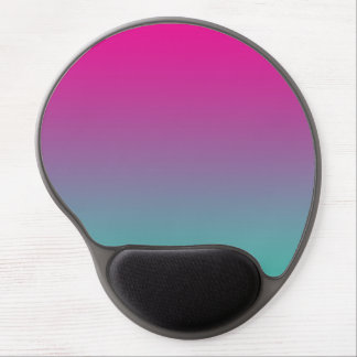 """""""Magenta Purple And Teal Ombre"""" Gel Mouse Pad"""