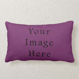 Magenta Purple Color Trend Blank Template Pillow