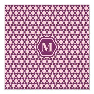Magenta Purple Gray and Pink STH Invitation