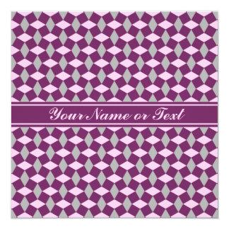 Magenta Purple/Gray/Pink Wavy Pattern Invitation
