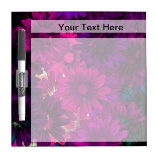 Magenta purple modern floral pattern Dry-Erase whiteboard