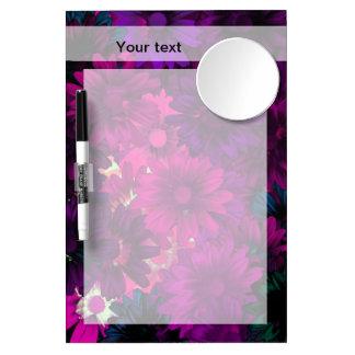 Magenta purple modern floral pattern Dry-Erase board