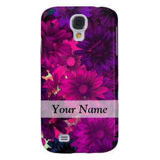 Magenta purple modern floral pattern galaxy s4 case