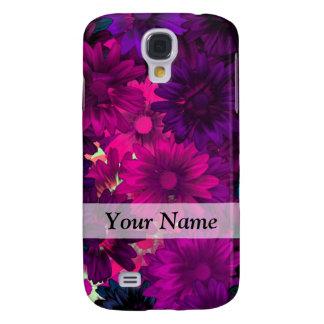 Magenta purple modern floral pattern galaxy s4 case