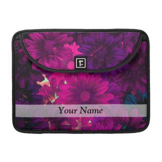 Magenta purple modern floral pattern sleeves for MacBooks