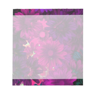 Magenta purple modern floral pattern memo note pads