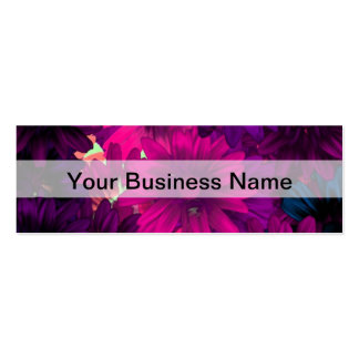 Magenta purple modern floral pattern pack of skinny business cards