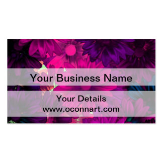 Magenta purple modern floral pattern pack of standard business cards