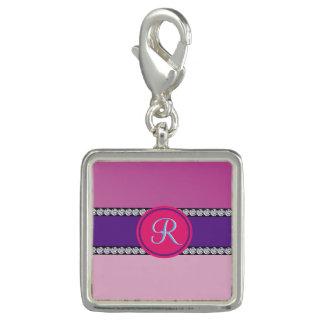 Magenta Purple Pink Mauve Girly Monogram Initial