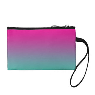 Magenta Purple & Teal Ombre Change Purses