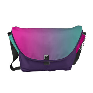 Magenta Purple & Teal Ombre Commuter Bag