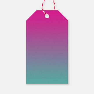 Magenta Purple & Teal Ombre Gift Tags