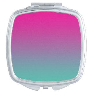 Magenta Purple & Teal Ombre Makeup Mirror