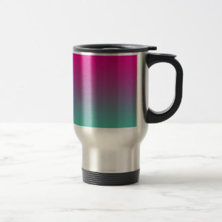 Magenta Purple & Teal Ombre Stainless Steel Travel Mug