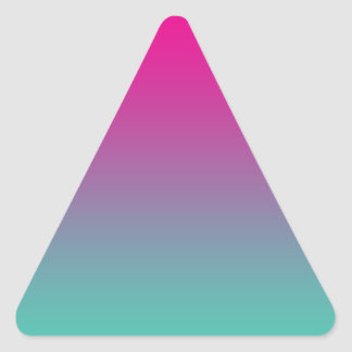 Magenta Purple & Teal Ombre Triangle Sticker