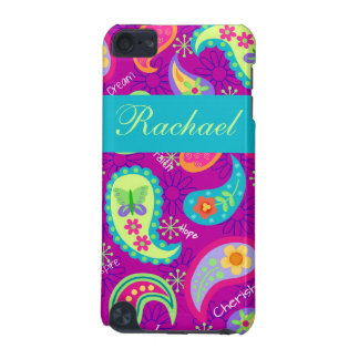 Magenta Purple Turquoise Modern Paisley Pattern iPod Touch (5th Generation) Cases