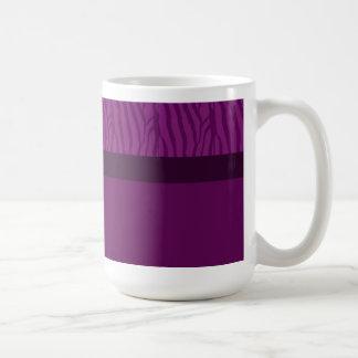 Magenta Purple Zebra Fur Pattern Basic White Mug