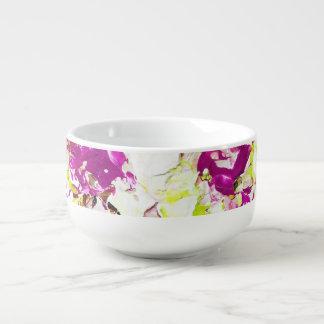 Magenta Rain Floral Bowl