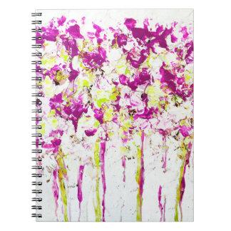 Magenta Rain Floral Notebook