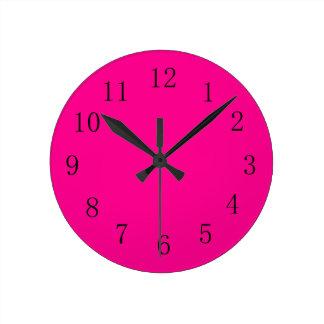 Magenta Red Kitchen Wall Clock