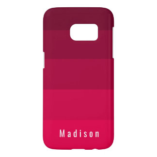 Magenta Red Pink Hues Monogram
