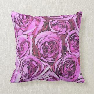 Magenta roses cushion