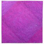 Magenta Sparkle Glitter Girly Purple Pink Holiday Printed Napkins