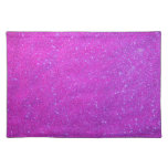 Magenta Sparkle Glitter Girly Purple Pink Holiday Place Mat