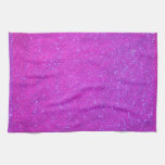 Magenta Sparkle Glitter Girly Purple Pink Holiday Towels