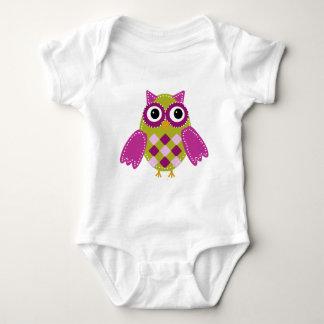 Magenta the Adorable Owl Baby Bodysuit