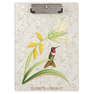 Magenta Throated Wood Star Hummingbird Clipboard