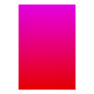Magenta to Red Gradient Poster