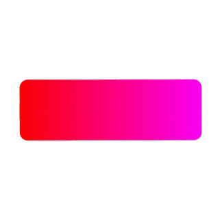 Magenta to Red Gradient Return Address Label