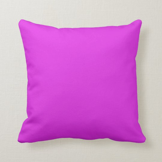 Magenta Violet Bright Purple Colour Background Cushion