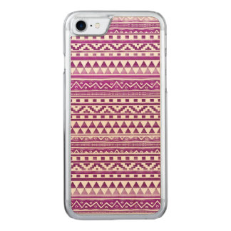 Magenta Watercolor Abstract Aztec Tribal Pattern Carved iPhone 8/7 Case