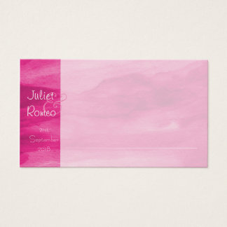 Magenta Watercolour Place Cards