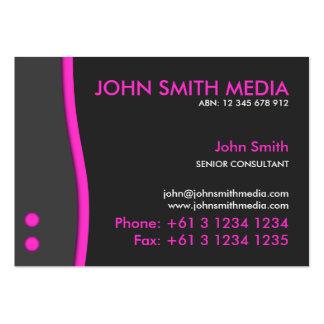 Magenta Wave Business Card (Dark)