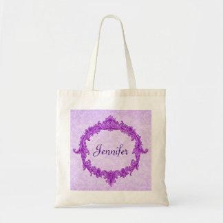 Magenta Wedding Damask Bridesmaid Bag