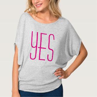 Magenta YES shirt