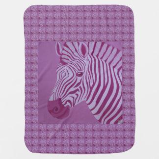 Magenta Zebra Baby Blanket