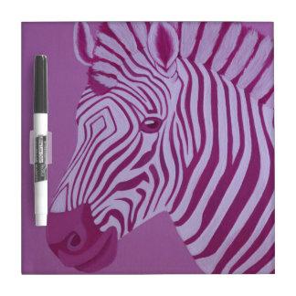 Magenta Zebra Dry Erase Board