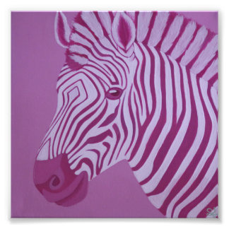 Magenta Zebra Print