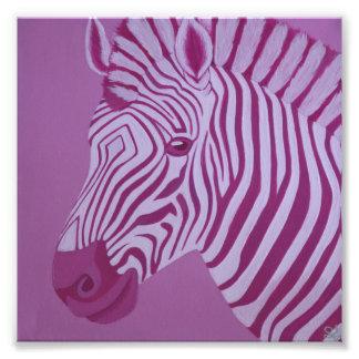 Magenta Zebra Print Art Photo