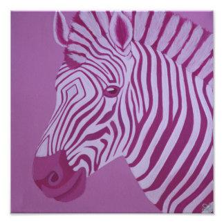 Magenta Zebra Print Photo Print